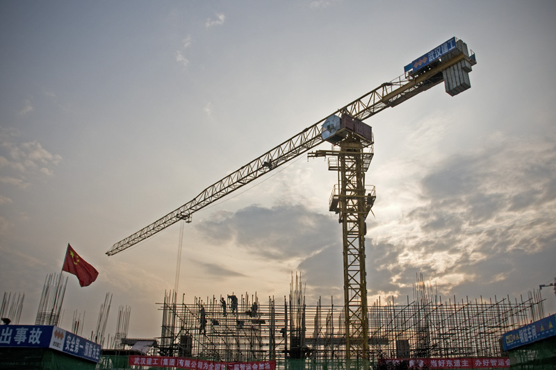 Cranes building a new stadium to host the national Mind Games (chess and such).  Hope that the students will actually be able to use it and play basketball.  The old courts are generally over crowded and not in the best of condition.