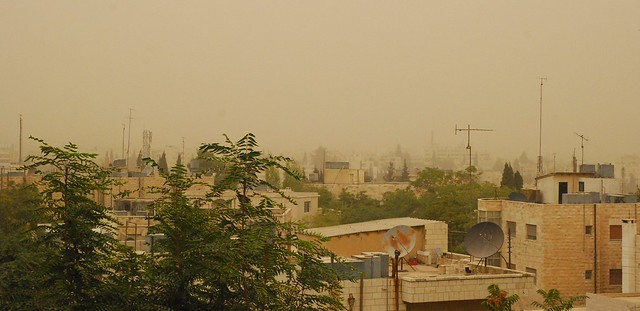 Amman - Sandstorm and smog
