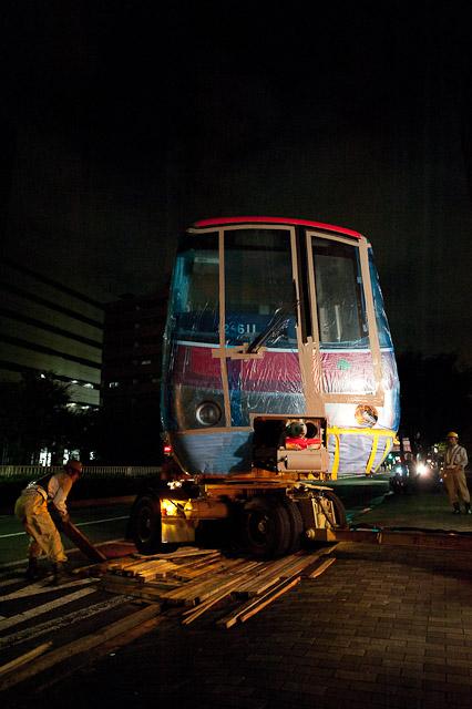 都営地下鉄大江戸線12-600形12-611号車 陸送