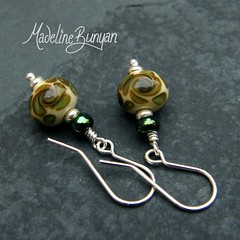 """Olive Green Bead Earrings • <a style=""""font-size:0.8em;"""" href=""""https://www.flickr.com/photos/37516896@N05/6194422173/"""" target=""""_blank"""">View on Flickr</a>"""