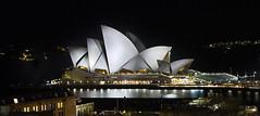 An Aussie Icon (Nat's View) Tags: house reflection water night dark lights opera sydney sails australia icon aussie