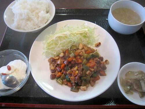 鶏と野菜の炒め@陳家飯(桜台)