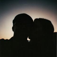 Sunset Silhouette -Diana Mini (KristianJorgensen) Tags: nyc sunset ny newyork silhouette lomo eastriver hudson circleline toycam dianamini circlelinesightseeingcruises