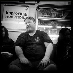 Subway - 5.6.11 (rpmaxwell) Tags: nyc portrait people urban bw usa ny newyork public subway publictransportation metro candid lofi portraiture persons unposed subways wmata iphone iphoneography iphoneographie hipstamatic