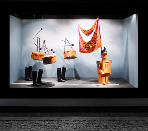Vitrines de Sarah Illenberger pour Hermes - Berlin, septembre 2011