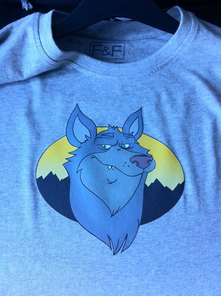 Bespoke wolf t-shirt