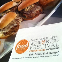 Veal sliders with Colavita olive oil. #nywff