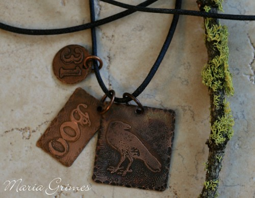 Copper Halloween Necklace