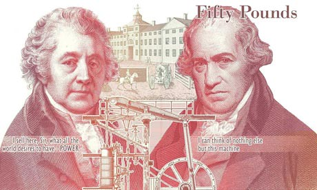New--50-note-celebrating--Boulton and Watt