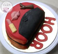 purse cake (Violet.bh) Tags: birthday cake bag bahrain sweet chocolate dora purse bh