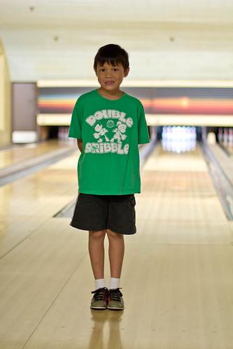 Joshua's bowling attire