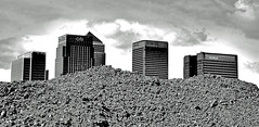 Canary Wharf (richwat2011) Tags: urban london architecture modern blackwhite nikon cityscape greenwich towers east docklands d200 canarywharf wasteland northgreenwich tallbuildings onecanadasquare isleofdogs