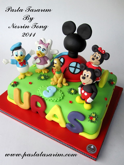 MICKEY CLUB HOUSE CAKE- URAS BIRTHDAY