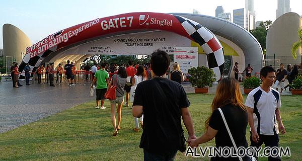 We entered via Gate 7
