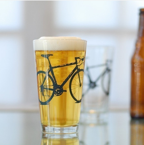 Bike Pint Glasses by vital