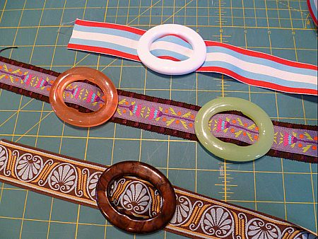 Fun with ribbon and buckles