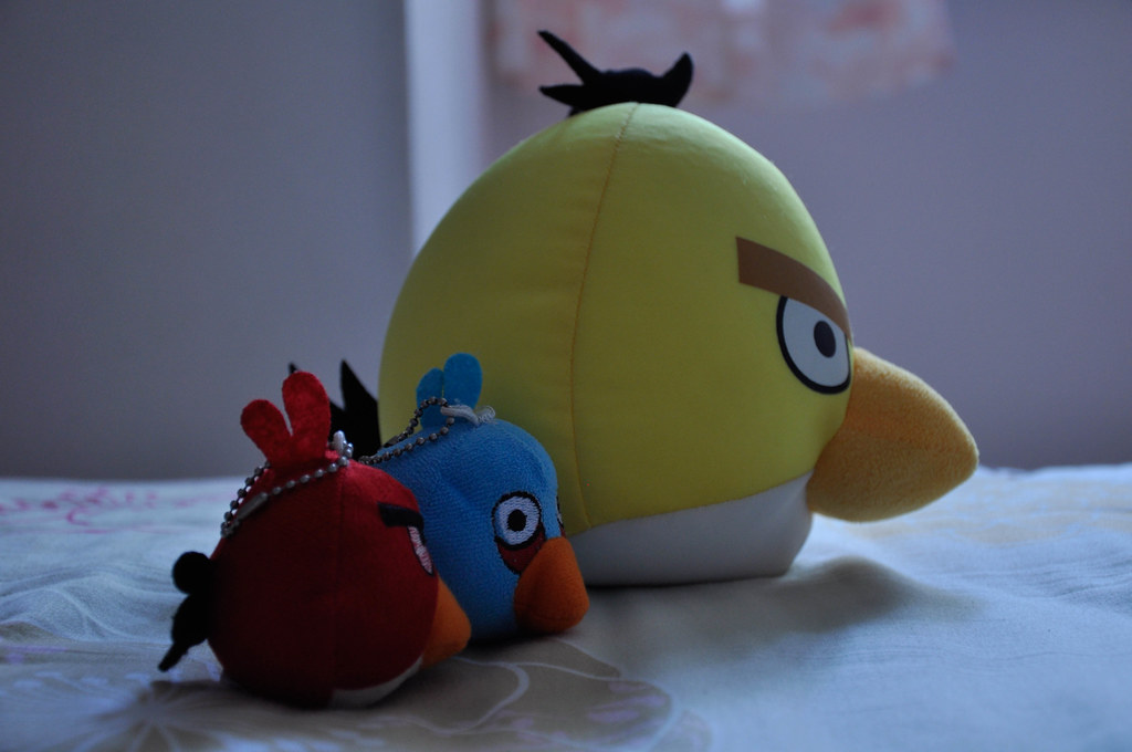 "my daughter's interest in the ""Angry Bird"" ..."