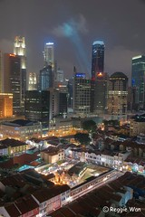 Chinatown Singapore #3. (Reggie Wan) Tags: city building tourism architecture night singapore asia chinatown cityscape aerialview cbd modernbuilding highrisebuilding moderncity asiancity reggiewan sonya850 sonyalpha850 gettyimagessingaporeq1