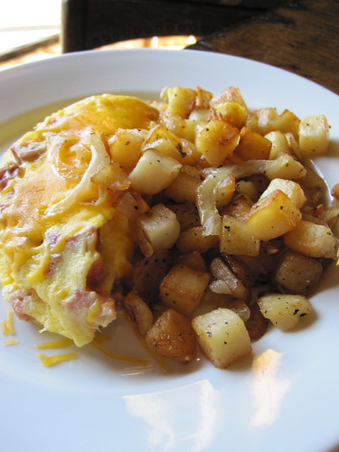 Ham and Cheese Omelet - served with homestyle potatoes