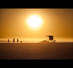 Where will we be, when the summer's gone? [Explored] (Edwin_Abedi) Tags: california sunset summer people beach silhouette losangeles sand socal