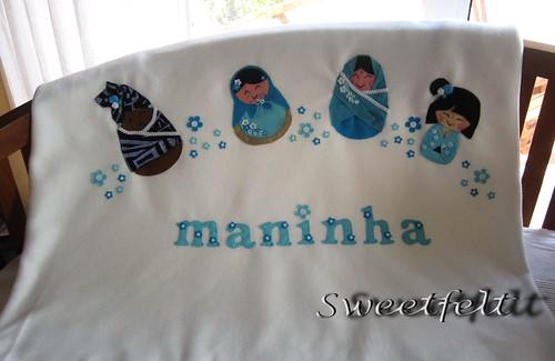 ♥♥♥  Para a maninha da C. ! by sweetfelt \ ideias em feltro