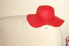My new red hat by Julie70