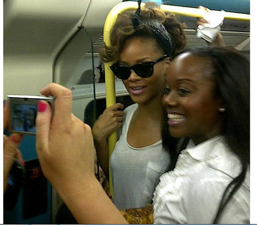 Rihanna on the Tube - Taken by Lisa-Marie O'Keeffe