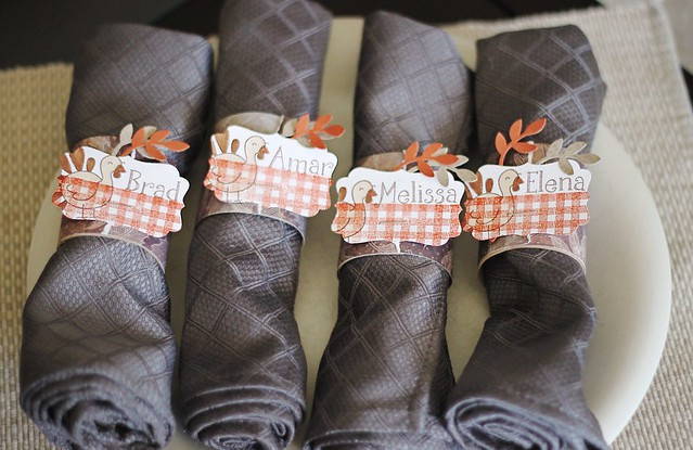 turkey day napkin rings