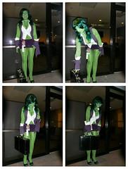 Drunk Shulkie (BelleChere) Tags: atlanta green costume geek cosplay bodypaint convention adamhughes marvel dragoncon shehulk comicbabescontest