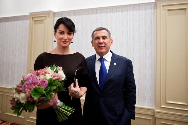Тина Канделаки и Рустам Минниханов