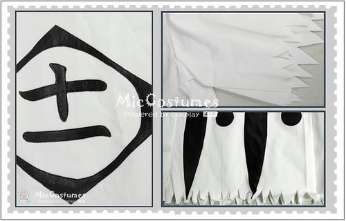 Bleach 11th Division Captain Kenpachi Zaraki Cosplay Costume1