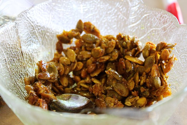 curry coconut pepita brittle