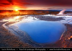 Iceland - Turquise Pool with Strokkur in the Background during Sunrise ( Lucie Debelkova / www.luciedebelkova.com) Tags: world trip travel vacation holiday tourism beautiful sunrise wonderful iceland nice fantastic perfect europe tour place awesome north sightseeing visit location tourist best journey stunning destination nordic sight traveling lovely visiting exploration incredible touring breathtaking icelandic naturesfinest luciedebelkova wwwluciedebelkovacom luciedebelkovaphotography