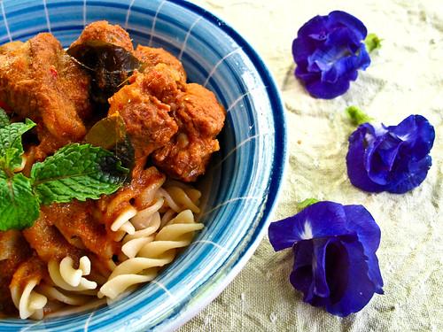 IMG_1665 Curry pork rib and spiral spaghetti