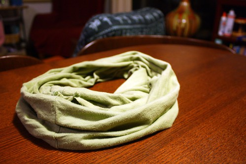 Photo of a no sew scarf