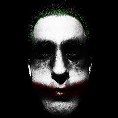 Just a Joker (TheVagoAttila) Tags: portrait mobile dark psychiatry crazy ericsson sony sonyericsson killer joker vivaz cellshot dawien phonegraphy spottr2011