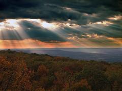 [フリー画像素材] 自然風景, 雲, 暗雲, 薄明光線, 風景 - アメリカ合衆国 ID:201110160600