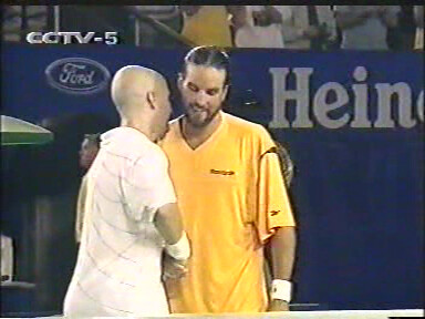 Andre Agassi and Pat Rafter