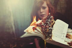 Inkheart. (Louise Spence) Tags: fire smoke flames ruin books parchment literature burning louise burnt capricorn meggie inkheart inkdeath dustfinger belladayys