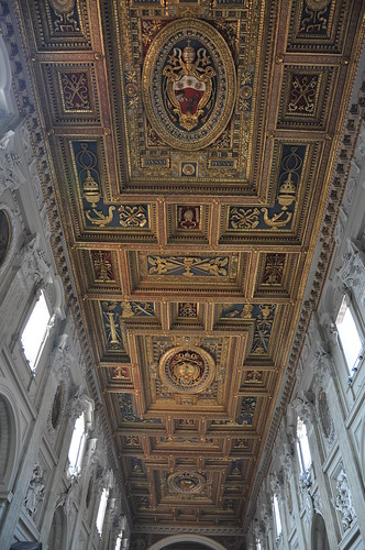The ceiling in the Basilica di San Giovanni in Laterno