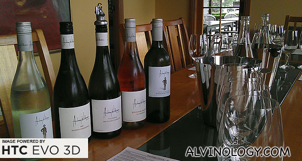 Some of the Audrey Wilkinson wines we sampled