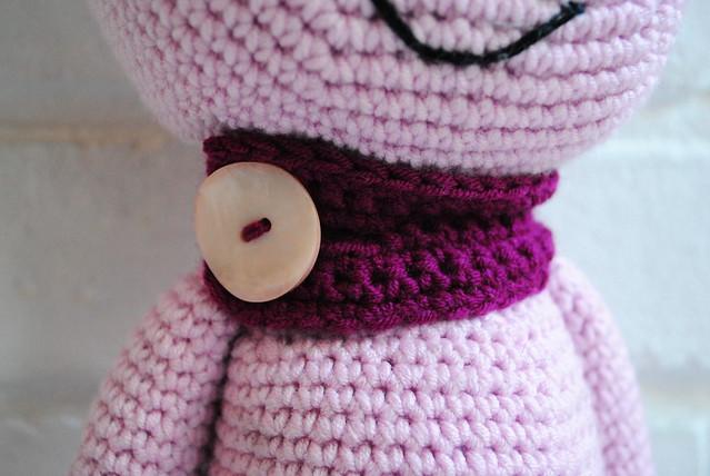 Crochet creature's scarf
