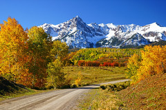 Jeeping To Heaven (Aspenbreeze) Tags: autumn winter snow mountains fall nature beauty colorado redrocks aspens foilage windingroad coloradonationalmonument windyroad fallseason supershot aspenbreeze artistoftheyearlevel2 moonandbackphotography topphotospots tpslandscapes gpsetest beverlyzuerlein
