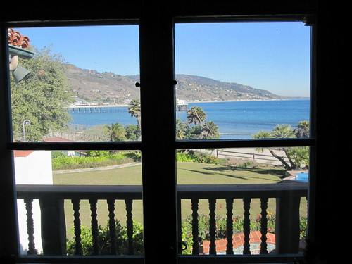 view from Adamson House bedroom