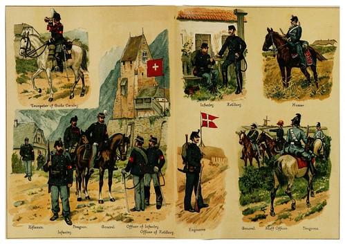 015-Armadas de Suiza y Dinamarca-Armies of Europe (1890)- Fedor von Köppen