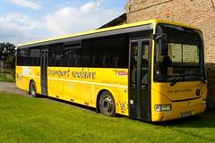 IRISBUS Recreo Transport scolaire (xavnco2) Tags: france bus buses yellow jaune transport schoolbus picardie autocar somme recreo scolaire irisbus corriera taquet plachybuyon