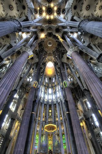 [フリー画像] 建築・建造物, 教会・聖堂・モスク, サグラダ・ファミリア, 世界遺産, スペイン, 201109142300