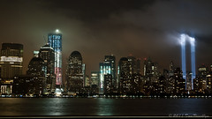 Restoring Freedom (TomBrooklyn) Tags: worldtradecenter wtc nycskyline freedomtower memoriallights 10yearanniversary