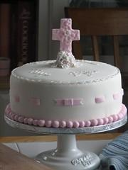 Christening Cake (sugarcrushmiami) Tags: vanilla fondant buttercream christeningcake baptismcake crosscake girlchristening girlbaptism