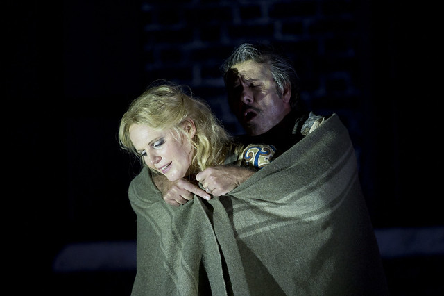 "Lucio Gallo as Michele and Eva-Maria Westbroek as Giorgetta in Richard Jones' production of Il Tabarro. The Royal Opera Season 2011/12. <a href=""http://www.roh.org.uk"" rel=""nofollow"">www.roh.org.uk</a>  Photo by Bill Cooper"